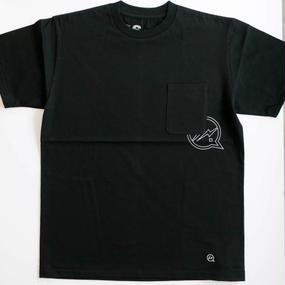ポケット付きクルーネックTシャツ[VFC1048] ブラック