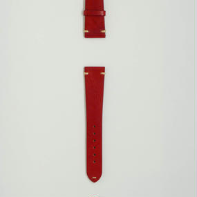 Aging Leather Strap for ROLEX Red