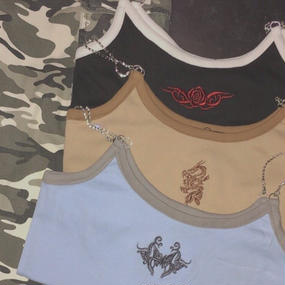 【予約販売】BF8178 トライバル刺繍キャミソール