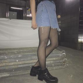 スカート風デニムショートパンツ