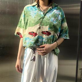 vintage 開襟シャツ