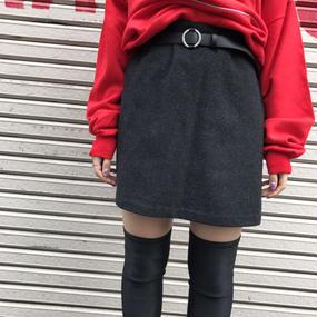 vintage ウールAラインスカート