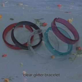 clear glitter bangle