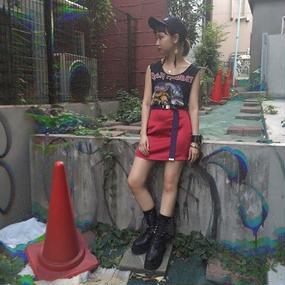 satin A-line mini skirt