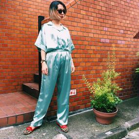 PA30054 サテンパジャマパンツ