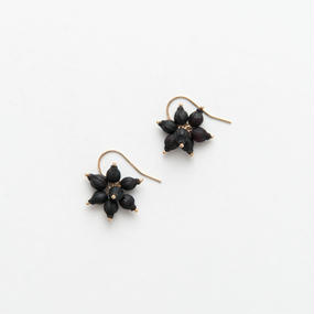 VIBURNUM TINUS FRENCH HOOK EARRINGS / VT7_B_GF