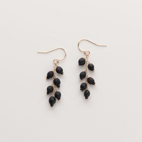 VIBURNUM TINUS FRENCH HOOK EARRINGS / VT6_T_GF