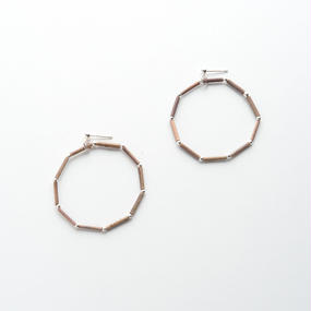 SILVER BEADS ROUND 10 EARRINGS