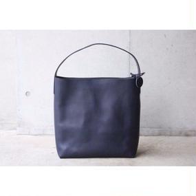 【ViN】ワンショルダーレザーバッグ(L)/ ネイビー