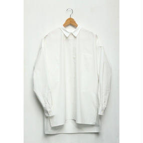 【roundabout】L/S Big Pullover Shirt / ホワイト