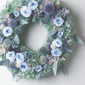 L size order-made preserved flowers wreath (25cm~30cm)