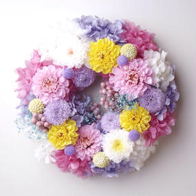 XS size order-made preserved flowers wreath (約10cm~15cm)