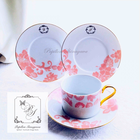ピンクアロハ ケーキ皿セット(C&S×1、ケーキ皿×2)