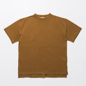 Cotton Silk Knit T-shirts / CAMEL