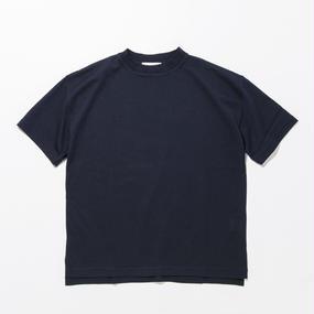 Cotton Silk Knit T-shirts / NAVY