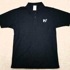 Happy Field Records Polo-Shirt(Black)