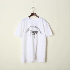 Happy Field Records Logo T-shirts(White)