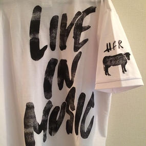 【Live in Music EDITION】Happy Field Records Polo-Shirt(White)
