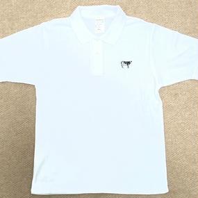 Happy Field Records Polo-Shirt(White)