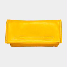 Volleyballer's Clutch Bag(2Way)/バレーボール パンチングレザー イエロー