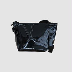 【受注生産アイテム!】Ball's Material SHOULDER POUCH/サッカーボールレザー ブラック×ホワイト