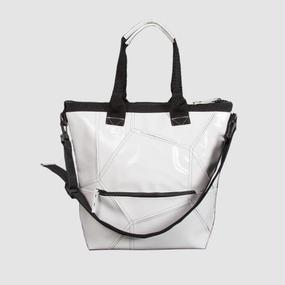【受注生産アイテム!】Ball's Material 4way BAG/サッカーボールレザー ホワイト×ブラック