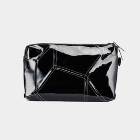 Ball's Material Clutch Bag/サッカーボールレザー ブラックxホワイト