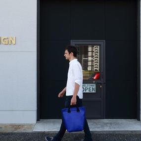 Volleyballer's Tote Bag(R)/バレーボール パンチングレザー ブルー