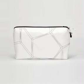 Ball's Material Clutch Bag/サッカーボールレザー ホワイト×ブラック