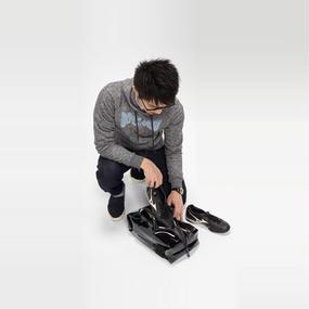 Ball's Material Shoes Case/サッカーボールレザー ブラック×ホワイト