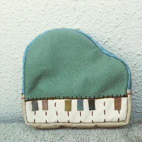楽器ポーチ piano (green・大)
