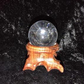 水晶丸玉(直径約3cm)伯家神道による浄化・祝詞奏上済み