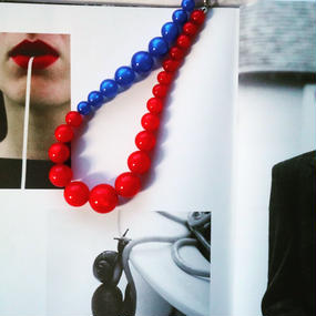 florian  necklace  blue&red
