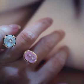 Bluesapphire&Pinktourmaline  ring{imago }