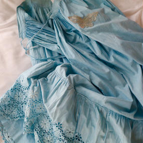 yukifujisawa  blue skirt