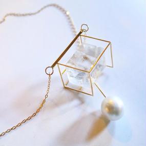 Imago  optical calcite & pearl necklace