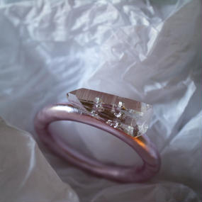 imago quartz bangle pink