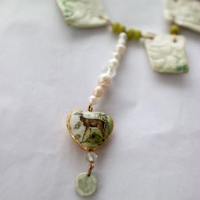 Joke Schole ceramic necklace heart