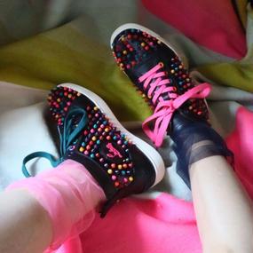 Pan&The Dream Mid nightblue-backseam tulle socks