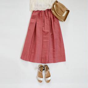 SACRA サクラ リネンギャザースカート SH120121