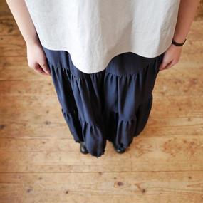 SACRA サクラ ティアードロングスカート SH119121