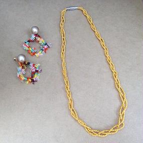 Mosya twist ネックレス  アソートカラー 40cm〜45cm