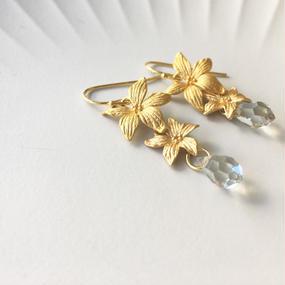Gold Flowers ピアス(イヤリングに変更可)