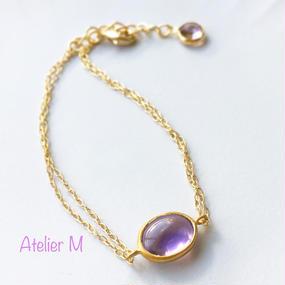 Amethyst  Candy Bracelet