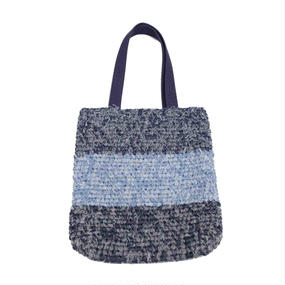INFIELDER DESIGN    SINGLE CROCHET DENIM BAG