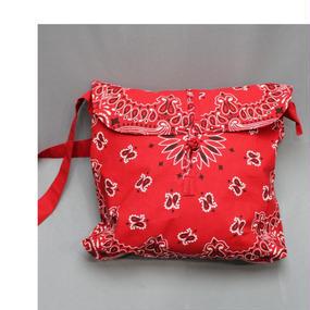 INFIELDER DESIGN Bandana Shoeder Bag -RED,WHITE-