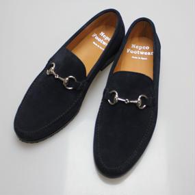Nepco Footwear -  Entercarne Bit Moc Navy Suede 6 1/2