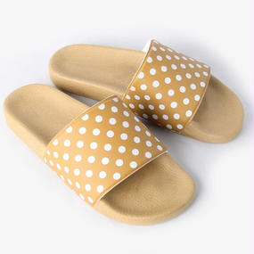 NEEDLES -  POLKA DOT SLIDE SANDAL - GOLD