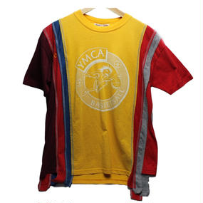 Rebuild By Needles (リビルドバイニードルズ) 7 Cut Tee College YELLOW 1 - size M -