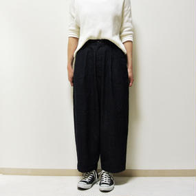 DENIM WIDE EGG LONG PANTS  A21702